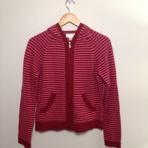 Anne Taylor Loft Striped Hoodie Sweater | M